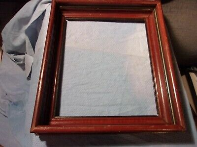 """Antique Square Nail VICTORIAN WALNUT DEEP FRAME FOR 10"""" BY 12"""" PRINT"""