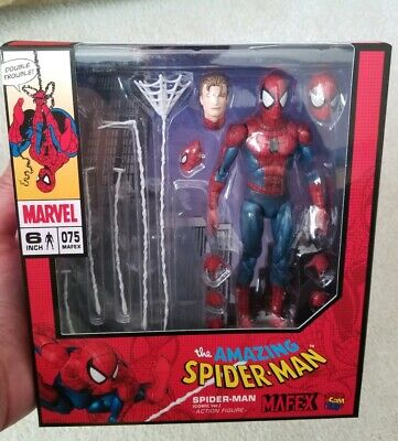 In Hand In USA Mafex Medicom Spider-Man Comic Version Spiderman 075 New MISB