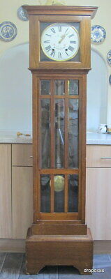 English Style French Longcase Clock. Small 5ft 10ins High.