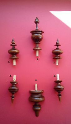 WOODEN SET FINIALS  TO THE ANTIQUE CLOCK VIENNA REGULATOR BECKER LENZKIRCH No.33