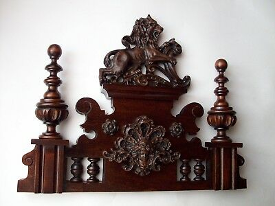 CROWN WOODEN TO THE CLOCK GERMAN VIENNA LENZKIRCH REGULATOR BECKER No.59