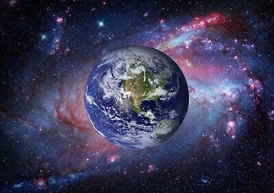 Beautiful Planet Earth Poster Print Size A4 A3 Outer Space Poster Gift #8544