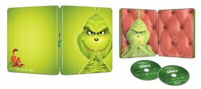 Illumination Dr. Seuss The Grinch Limited Ed. Steelbook Blu-Ray+DVD+Digital