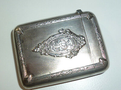 Vintage Art Deco Silver Match Box Holder - Streichholzbox - Nice Piece