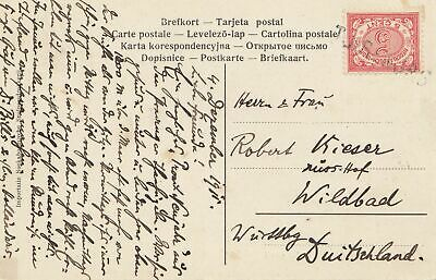 Ned. Indie 1915: post card to Wildbad/Germany