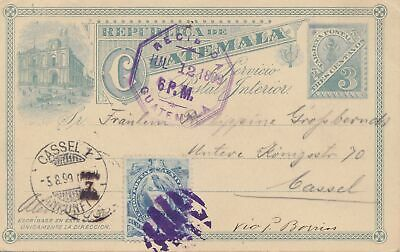 Guatemala: 1899 post card to Kassel/Germany