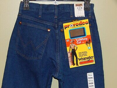 1bbc4e43 Vtg NWT Wrangler Pro Rodeo Original Fit Cowboy Cut Womens Jeans LONG 5 x 37  WOW