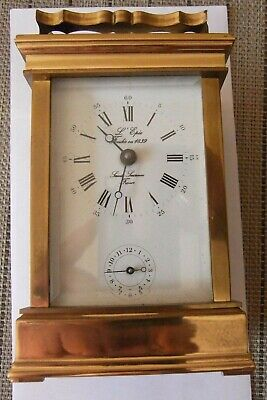 L'epee Fondie 1839 20Th Century Solid Brass Carriage Clock France Working