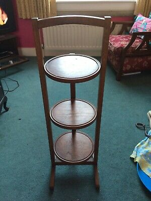 Beautiful wooden three tier cake stand