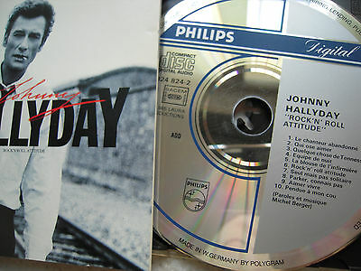 Johnny Hallyday - CD - 1er pressage Label Digital - Rock'n roll attitude
