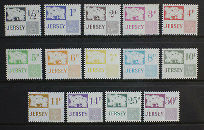 Jersey 1971-1975 SG D7-D20 Postage Dues MNH
