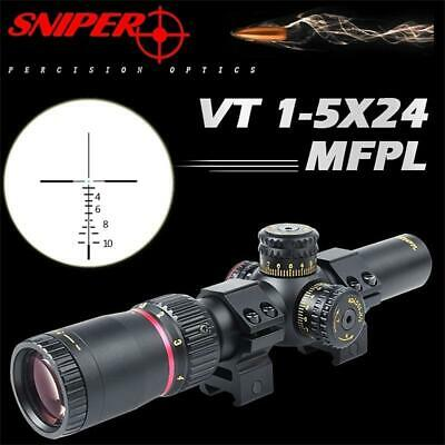 SNIPER VT1-5X24FPL First Focal Plane Precision Optics Scope with R/G CIRT