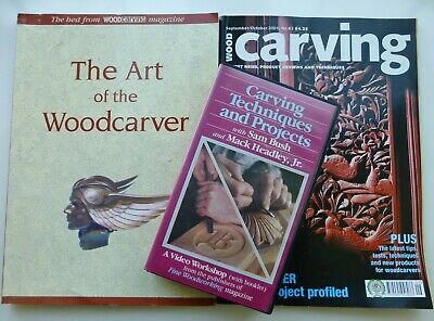 Wood Carving VHS Tape with The Art of the Woodcarver Booklet, Plus Wood Carving