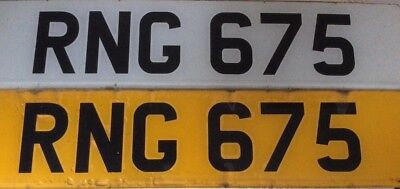 Personalised Private Number Plate RNG 675