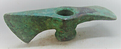 Authentic Ancient Luristan Bronze Battleaxe Authentic War Object 3000Years Old