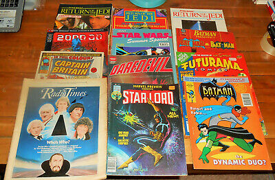 264x HUGE VINTAGE COMIC MAGS lot Marvel DC Star Wars Batman Futurama White Dwarf