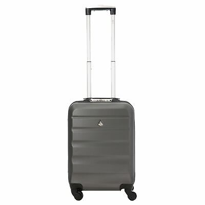 Aerolite ABS Hard Shell Lightweight Luggage Travel Suitcase (Set of 2, Charcoal)
