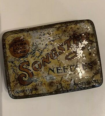 Vintage Songster Gramophone Needles Extra Loud Tone Tin