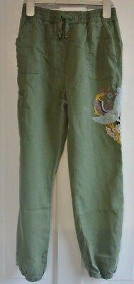 New Next girls trousers Khaki age 8