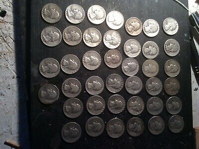 $10 Face Value ROLL WASHINGTON QUARTERS  90% Silver 40 Forty Coins 40;s And 50:
