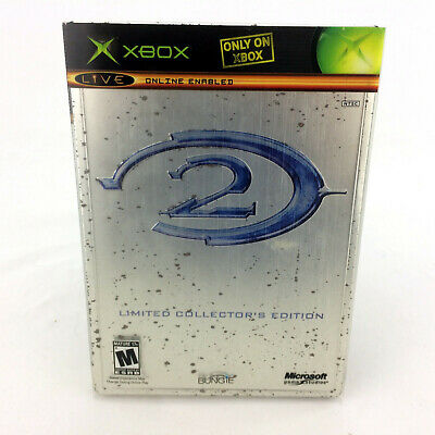 Halo 2 Limited Collectors Edition 2 Disc Steelbook Case Xbox Video Game