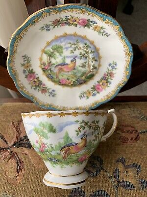 VINTAGE ROYAL ALBERT BONE CHINA,ENGLAND. Chelsea Bird Pattern, Cup & Saucer!