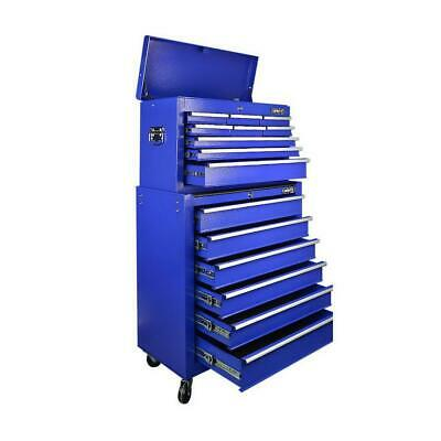 Giantz 15 Drawers Mechanic Toolbox Storage Chest Cabinet Garage Trolley Tool Box