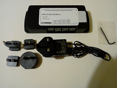 Omega 8 Channel Thermocouple Data Logger, Battery or AC, OM-CP-OCTTEMP-A
