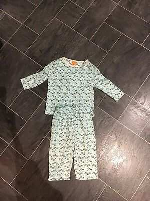 Boots Mini Mode Girls Mint Green Floral Design Pyjama Set Age 6-9 Months