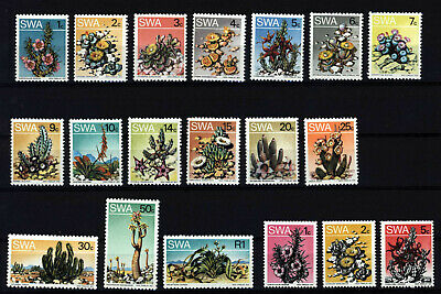SWA 1973 Flowers Cactus Complete Sets , SC 343-358 + 359-361 , MNH