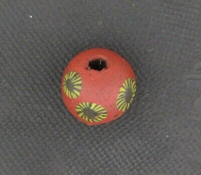 Ancient Glass Bead. Byzantine/Viking Period. Millefiori Mosaic Glass Bead V24
