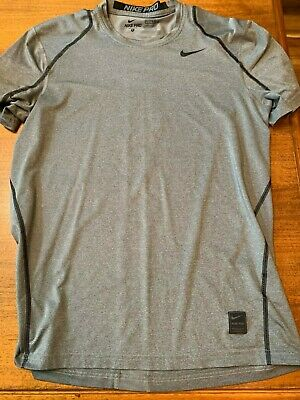 fd4274cfbef09 NIKE PRO FITTED Sleeveless Shirt Gray Tank Top Athletic Nike Fit ...