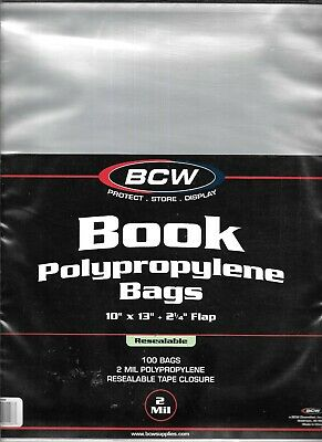 (300) Bcw Resealable Large Magazine - Book Size Size Bags / Covers - Discounts