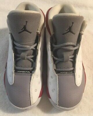 separation shoes 93650 5be1d Nike Shoes - 2014 Jordan 13 XIII Flint Grey Toe - Team Red White - Size