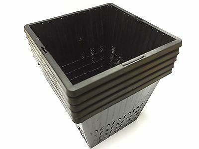 X10 14cm NEW Square. GARDEN POND PLASTIC PLANTING BASKETS FOR WATER PLANTS.  NEW