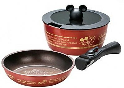 Disney Mickey Mouse Reattachable Griff IH Kochen Ware Set Japan mit Tracking