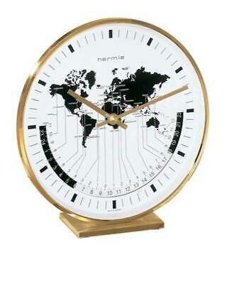 Hermle Buffalo I Brass Casing World Time Tabletop Clock [ID 28116]