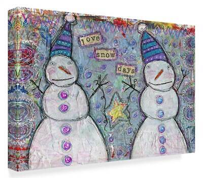 Funked Up Art 'Love Snow Days' Gallery Wrapped Canvas Art [ID 3769251]