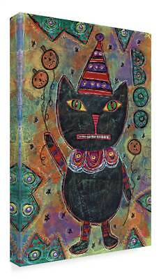 Funked Up Art 'Boo Black Cat' Gallary Wrapped Canvas Art [ID 3769595]