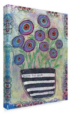Funked Up Art 'Bloom For Me' Gallary Wrapped Canvas Art [ID 3769631]