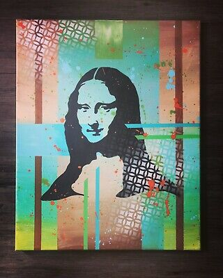 Mona Lisa Original Abstract Painting Acrylic