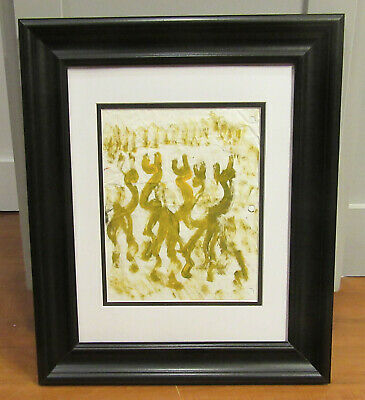 PURVIS YOUNG - Framed Original Painting - Group Of Angels - Listed COA Vintage