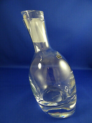 Fabulous Nambe Tilt Crystal Glass Liquor Wine Decanter