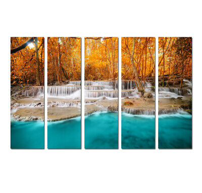 Waterfall Landscape Picture Wall Art Print Painting Canvas Living Room Home Deco