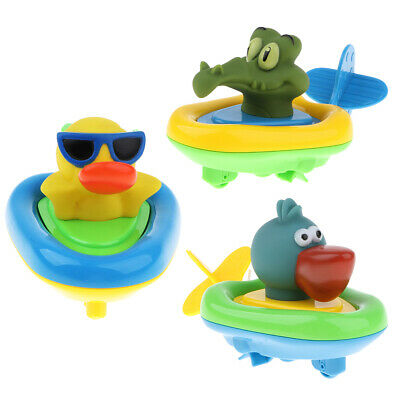 3pcs Wind Up Swimming Animals Bath Toy Floating Bath Animal Toy for Toddlers