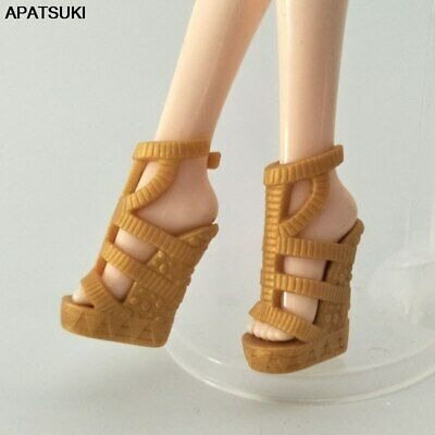1pair Yellow Fashion Shoes for Monster High Doll High-heel Shoes Doll Accessory