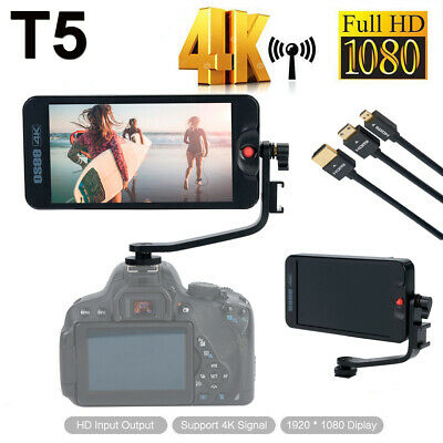 "T5 5.5"" IPS Screen FHD 4K HDMI Video Camera Monitor for DSLR Mirrorless Cameras"
