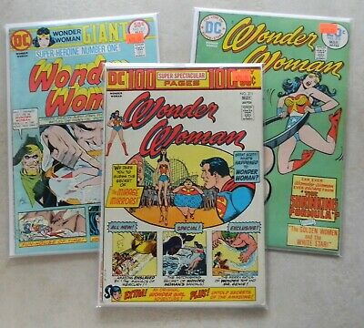 Wonder Woman #210 211 217 $45.00 LOT (1974, DC) 100 PAGE GIANTS + Wonder Girl!