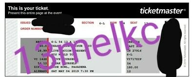 2 BTS Speak Yourself Tour Rose Bowl Tickets Day 1 May 4th, Section 6-L