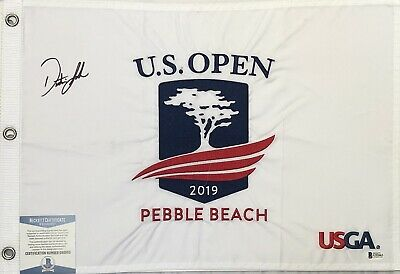 Nice 2019 Us Open Autograph Signed Field Flag Rory Mcilroy Fowler Beckett Bas Coa Loa Golf-pga Flags